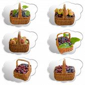 Постер, плакат: Baskets With Fruit