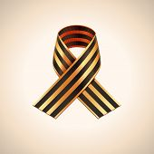 picture of ribbon  - Vector Ribbon of Saint George - JPG