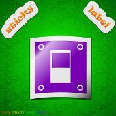 picture of toggle switch  - Power switch icon sign - JPG