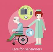 Постер, плакат: Care for Pensioners