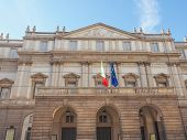 foto of world-famous  - Teatro Alla Scala aka La Scala world famous opera house in Milan Italy - JPG