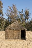 picture of west village  - Typical West-African hut with a straw roof