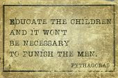foto of pythagoras  - Educate the children and it won - JPG