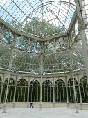 Invernadero interior en Madrid, España