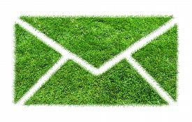 stock photo of greenery  - Symbol grass email - JPG