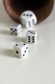foto of augen  - Spiel luck wuerfel dice number game play - JPG