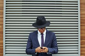 picture of jalousie  - Elegant businessman in suit - JPG