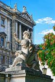 Statue Of Putti Angels In Burggarten poster