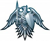 stock photo of armorial-bearings  - Composition with eagle - JPG