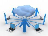 image of mainframe  - Image of  Cloud Computing Concept in 3D style - JPG