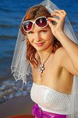 Bride On Sea Shore