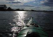 Kayaking Into The Sun On Lake Minnetonka