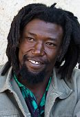 image of rastafari  - Rastafarian man portrait people diversity series day light