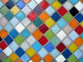 Mosaico multicolorido