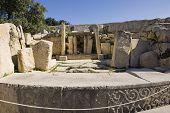 prehistoric Tarxien temples. Malta. Built approximately in 3000 B.C.