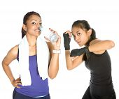 Female fitness and rehydration while working out