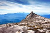 North Peak as seen near summit of Mount Kinabalu, Asia's highest mountain in Sabah, Malaysia, Borneo