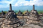 Borobudur temple in Jogjakarta, an ancient Buddhist temple discovered back in the early 1900 in Jogjakarta, Indonesia.