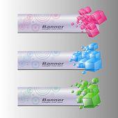 Banderas, colorido conjunto de fondos de internet, vector.