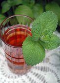A Glass Of Iced Mint Tea
