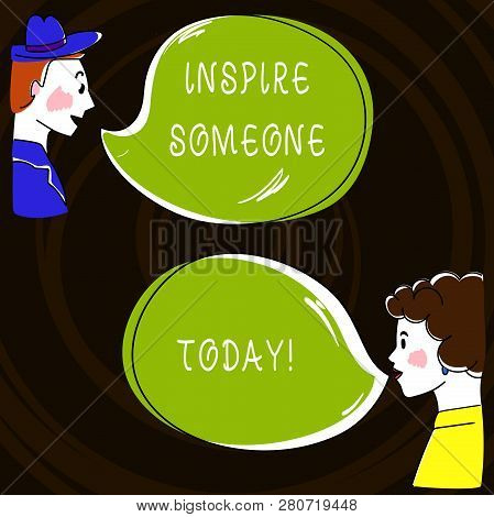 Text Sign Showing Inspire Someone