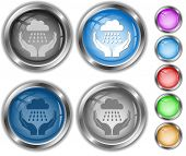weather in hands. Vector internet buttons.