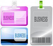 Business. Id cards. Raster illustration.