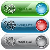 Global communication. Vector internet buttons.