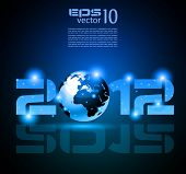 High tech and technology style 2012 happy new year celebration background for your posters, flyers a