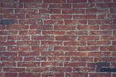 Red Brick Wall Texture Grunge Background With Vignetted Corners, May Use To Interior Design. Interio poster