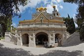 The great city of Jerusalem. Orthodox church of St. Mary Magdalene. The magnificent church of the fa