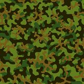 Seamless Camouflage Pattern. Abstract Exotic Trend Floral Military Background. Camouflage Seamless P poster