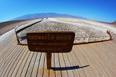 The famous area of Death Valley -