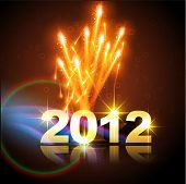 picture of new years celebration  - vector happy new year background illustration - JPG