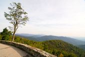image of blue ridge mountains  - skyline drive wall - JPG