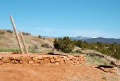 native american indian ruins kiva and ladder