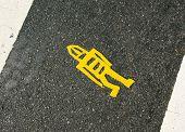 dead pedestrian marker