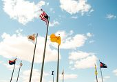 Four Corners monument flags