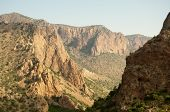 Chisos Mountain canyon cliffs