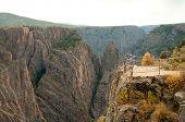 Black Canyon do Gunnison, pilares de pedra e formações rochosas