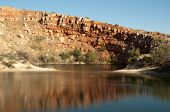 pic of bottomless  - mirror lake and sandstone cliffs - JPG