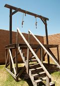 pic of gallows  - nooses hanging from a gallows - JPG