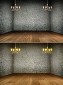 Chandelier In Grunge Interior | Background