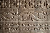 stock photo of 1700s  - wooden door carvings at a spanish mission - JPG