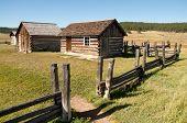 image of colorado high country  - Hornbeck Farmstead buildings on the plains - JPG