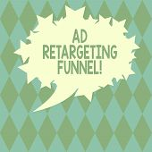 Handwriting Text Writing Ad Retargeting Funnel. Concept Meaning Aiming Relevant Ads To Those Have Vi poster