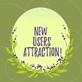 Text Sign Showing New Users Attraction. Conceptual Photo Something That Makes Showing Want For A Par poster