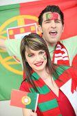 portugiesische Fußballfans