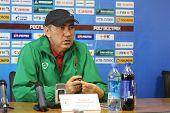 Tomsk, Russland 20. September: Kurban Berdyev Trainer des fc Rubin (Kasan), auf einer Pressekonferenz