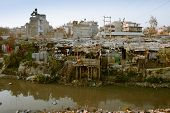 KATHMANDU, NEPAL - JANUARY 2: Not-tourist side of Kathmandu, houses of poor people in Old Baneshwor,